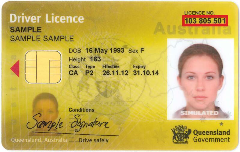 carta de motorista da australia - qld
