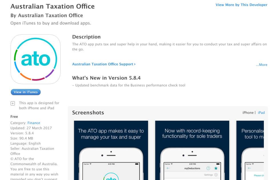 ato app da australia tax return