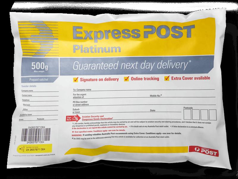 Envelope usado pelos Correios aqui da Austrália