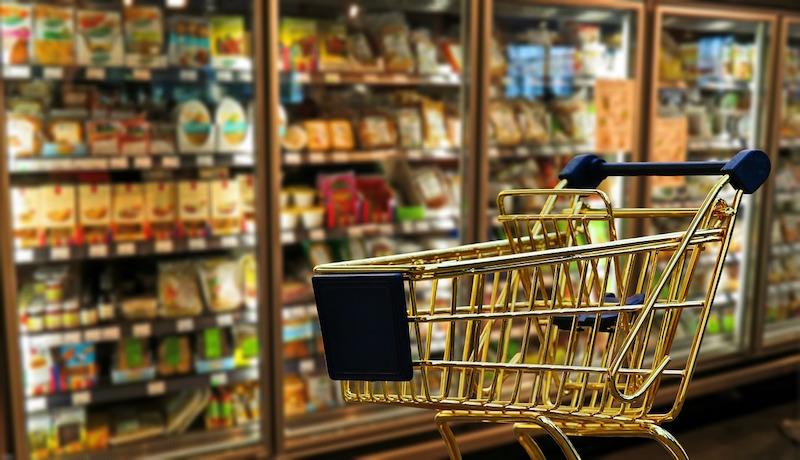 Fazendo compras em um supermercado na Austrália
