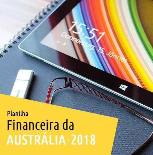 Planilha Financeira da Austrália 2018
