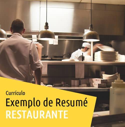 Currículo Para Trabalhar Em Restaurante na Austrália