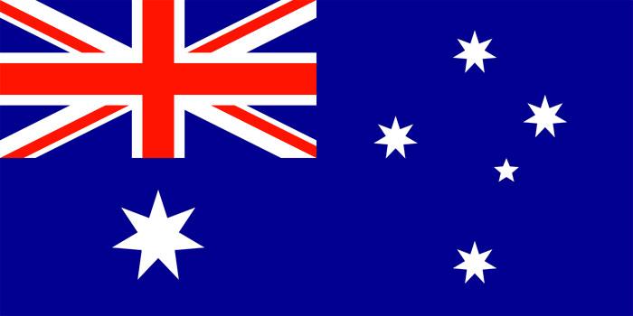 Desenho da bandeira da Austrália