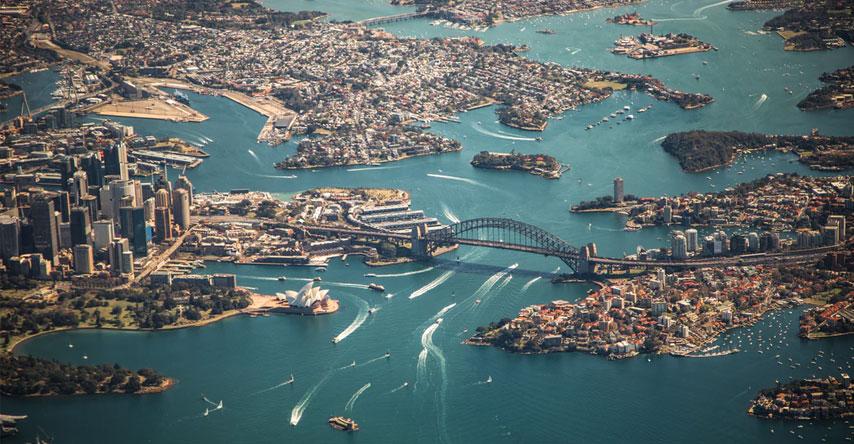 vista aérea de sydney austrália