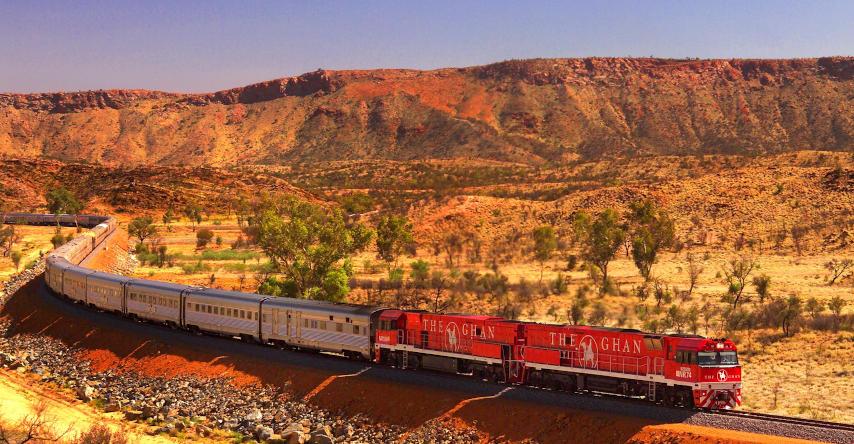 the ghan trem que atravessa o outback australiano