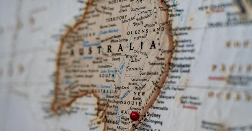 visto de turismo da austrália mapa